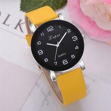 Новейшая мода Lvpai женские часы повседневные кварцевые часы с кожаным ремешком аналоговые наручные часы подарок роскошные relogio feminino A3