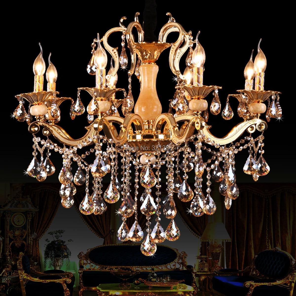 8 Lights European Luxury Fashion Crystal Chandelier Light