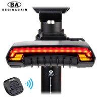 Hot Sale Smart Bike Laser Rear Light Bicycle Remote Control Turn Light Safety LED Warning Taillight