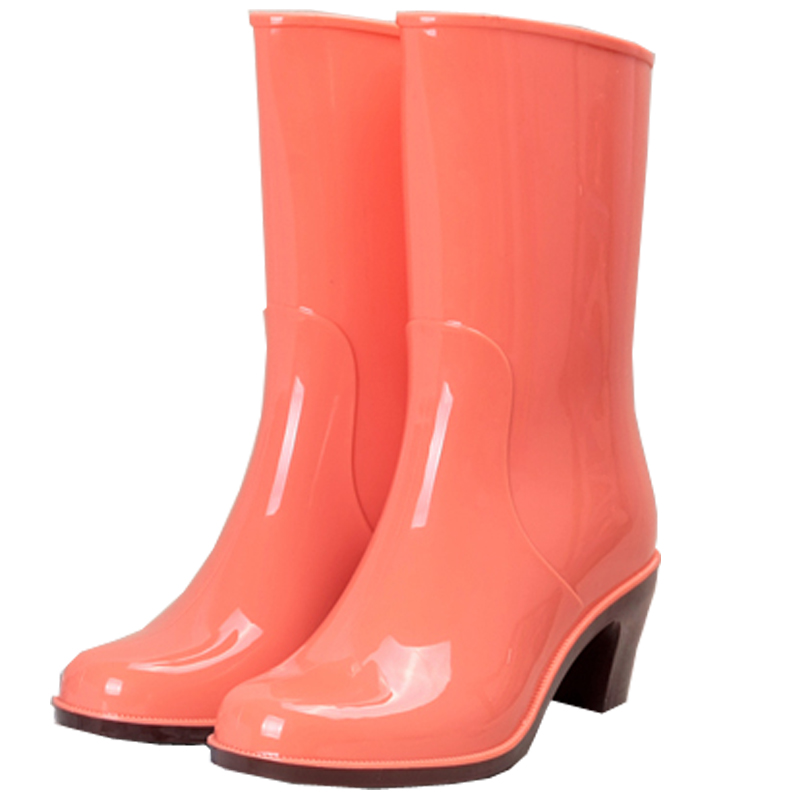 Rain Boots Female Rain Boots High Heel Tube Water Shoes Non-slip Shoes Waterproof Rubber Shoes Fashion rain boots women pvc prince waterproof high heel water shoes tall rain boots ankle gummis rain boots female rubber toe rainboots