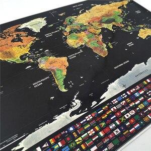 Image 4 - Роскошный постер с картой мира, персонализированный дорожный постер с атласом, новая карта