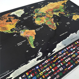 Image 4 - Deluxe Scratch Off World Map Personalized Travel Atlas Poster Novelty Map