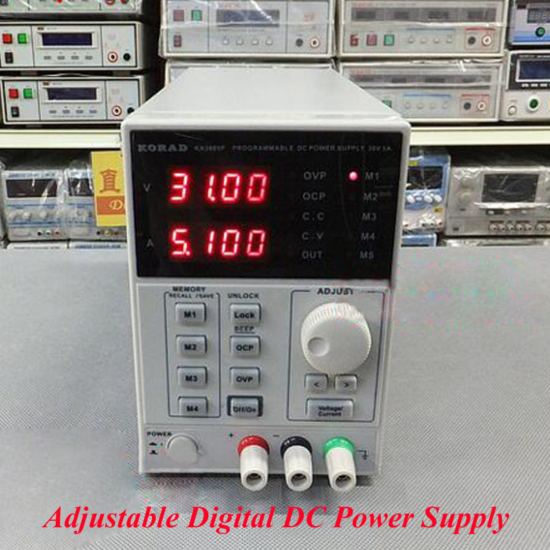 High Precision Adjustable Digital DC Power Supply mA 0~30V 0~5A for Scientific Research Service Laboratory KA3005D цена 2017