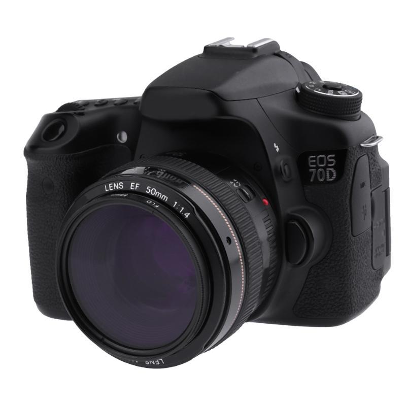 ALLOET 58mm UV+CPL+FLD Neutral Density Camera Lens Filters Kit +Bag+Lens Hood Cap+Cleaning Cloth For Nikon Canon SLR DSLR Camera