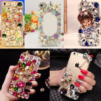 3D Handmade Luxury Bling Jewelled Rhinestone Diamond Crystal Hard Case Cover For Iphone 7 7Plus 6