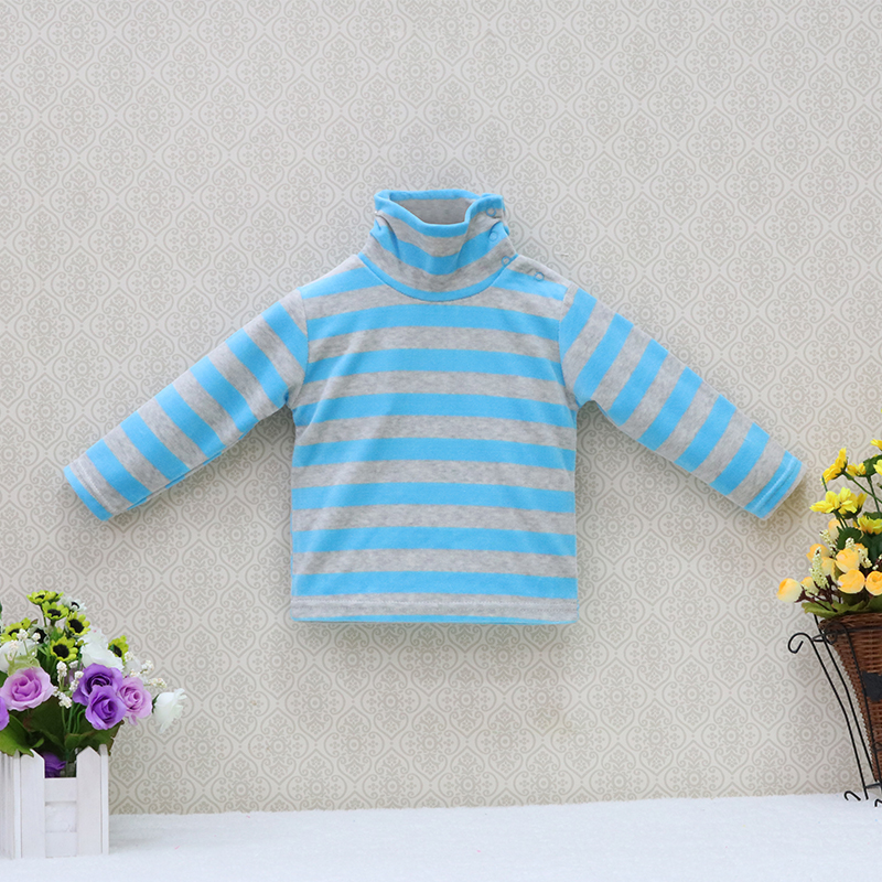 Little-Q-baby-turtle-neck-velour-blouse-5-pcslot-striped-spring-and-autumn-unisex-shirts-kids-long-sleeve-rivets-button-clothes-2