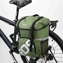 Roswheel MTB Folding Bike Bicycle Basket 15L Rear Rack Pannier MTB Pouch Bycicle Bicycle Saddle Bag Cycling Seat Bag Accessories