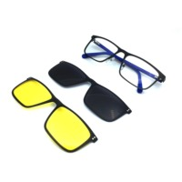 ST1794Ann Defee Sunglasses man Clip On Sunglass Men Polarized UV400 High Quality metal Day and Night Vision Prescription Glasses