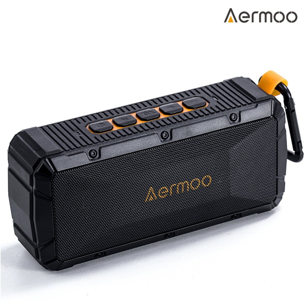 IPX6 Aermoo V1 Wireless Speakers Bluetooth 4.0 with Enhanced Bass, Outdoor Stereo Portable Speakers IPx6 Waterproof & Shockproof