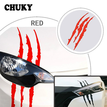 CHUKY Car Styling Scratch Stripe Claw Stickers Car Headlight For BMW E46 E39 E60 E90 E36 F30 F10 X5 E53 E34 E30 Mini Cooper Lada image