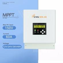 MPPT 60A Солнечный Контроллер заряда 12 В в В 24 В 36 В 48 в Солнечный аккумулятор зарядное устройство контроллер ЖК-дисплей двойной вентилятор охлаждения солнечный регулятор