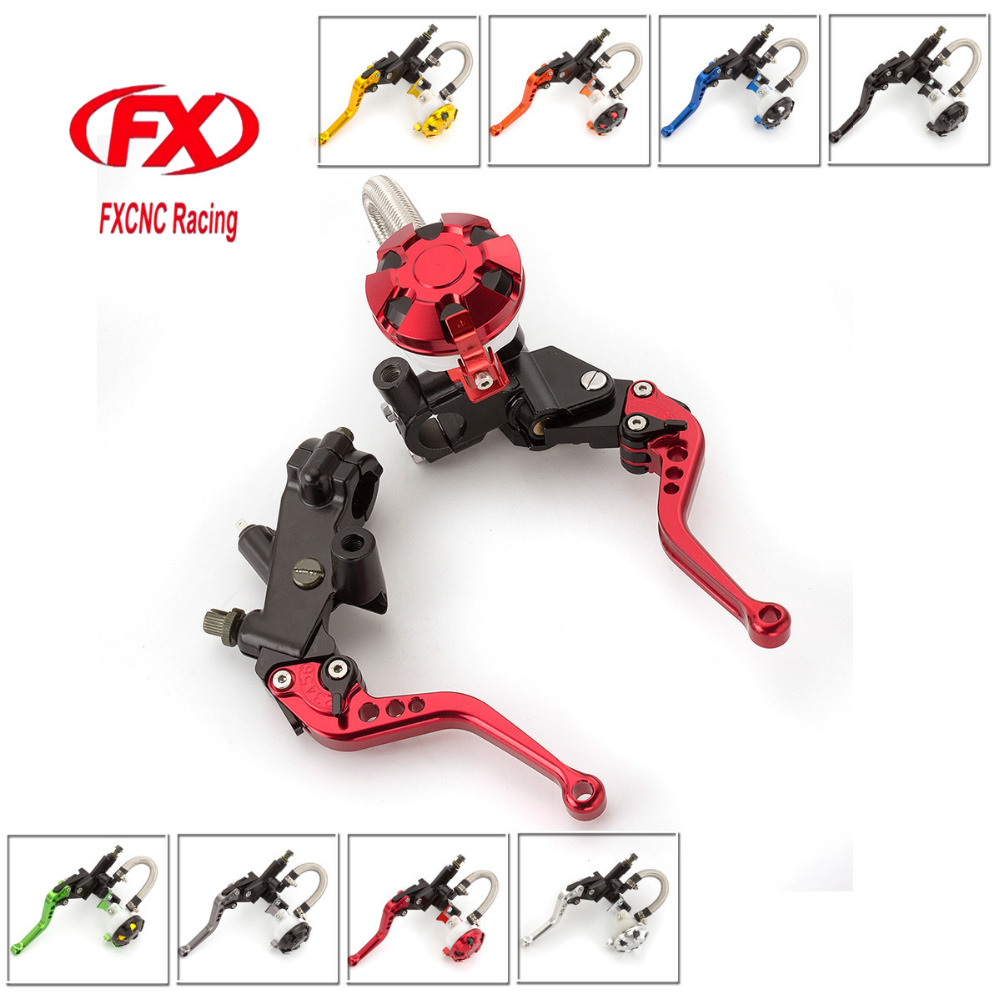 FX CNC 7/8 Motorcycle Brake Clutch Lever Master Cylinder Reservoir Hydraulic For Honda GROM 2014-2016 Rebel 250 CMX250C 2007-11