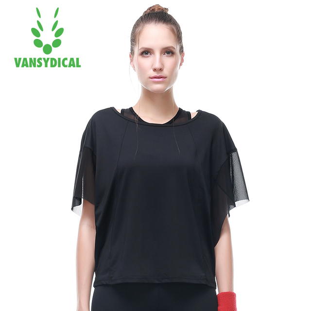 f348b63490832 Loose Yoga Shirt Short Sleeve Women Fitness Running Gym Tops Mesh Breathable  Big Size Sportswear