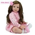 24 polegadas 60 centímetros macia do bebê de silicone Boneca de Childs jogar mat boneca realista