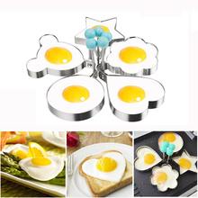 Kitchen Egg Mold DIY Heart Shaper Stainless Steel Mould Cocina Omelette Maker Cutter Form Eggs Cooking Tools Accessories Cooker