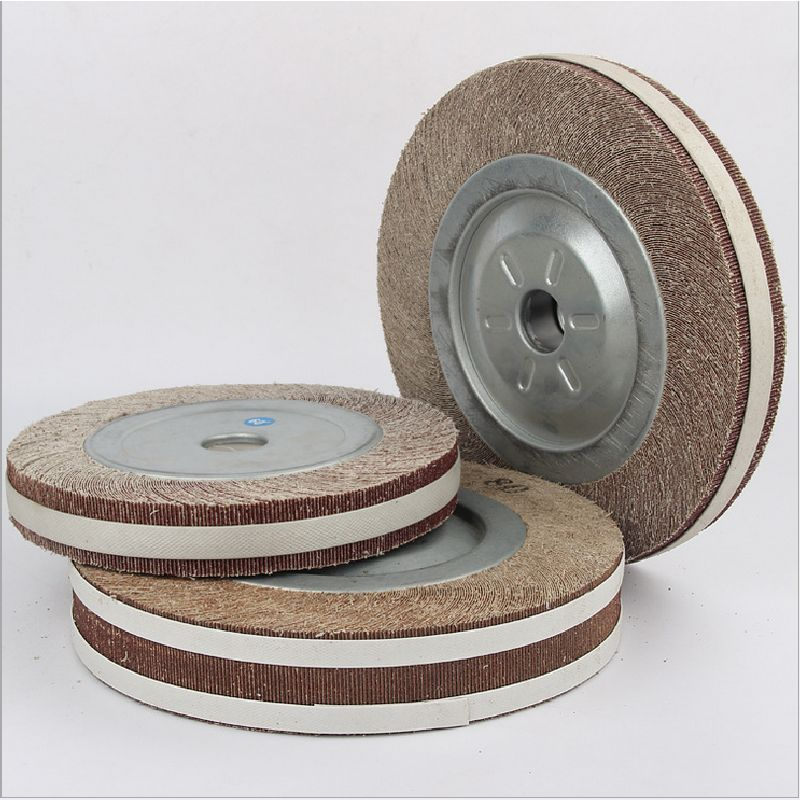 2pcs 125/150mm Sand Paper Buffing Wheel Abrasive Cloth Flap Wheel with Flange Polishing Sanding Wheels Grinding Wheels Abraser fiber polishing buffing wheel grit nylon abrasive 25mm thickness 7p hardness 32mm id