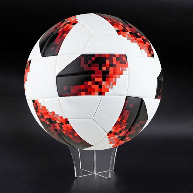 Football Display Stand Acrylic Transparent Basketball Baskball Stand Display Holder Rack Support Base New