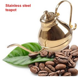 Free shipping gold 1 5l stainless steel long mouth palace teapot kettle gold silver press cofee.jpg 250x250