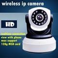 Wireless IP CCTV CÁMARA de vigilancia de vídeo Wifi 720 P HD Mega Alarma onvif P2P 128G tarjeta de memoria sd red