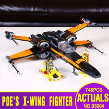 LEPIN 05004 748Pcs Star Wars First Order Poe's X-wing Fighter 79102 Building Blocks Compatible with  STAR WARS Toy 79209