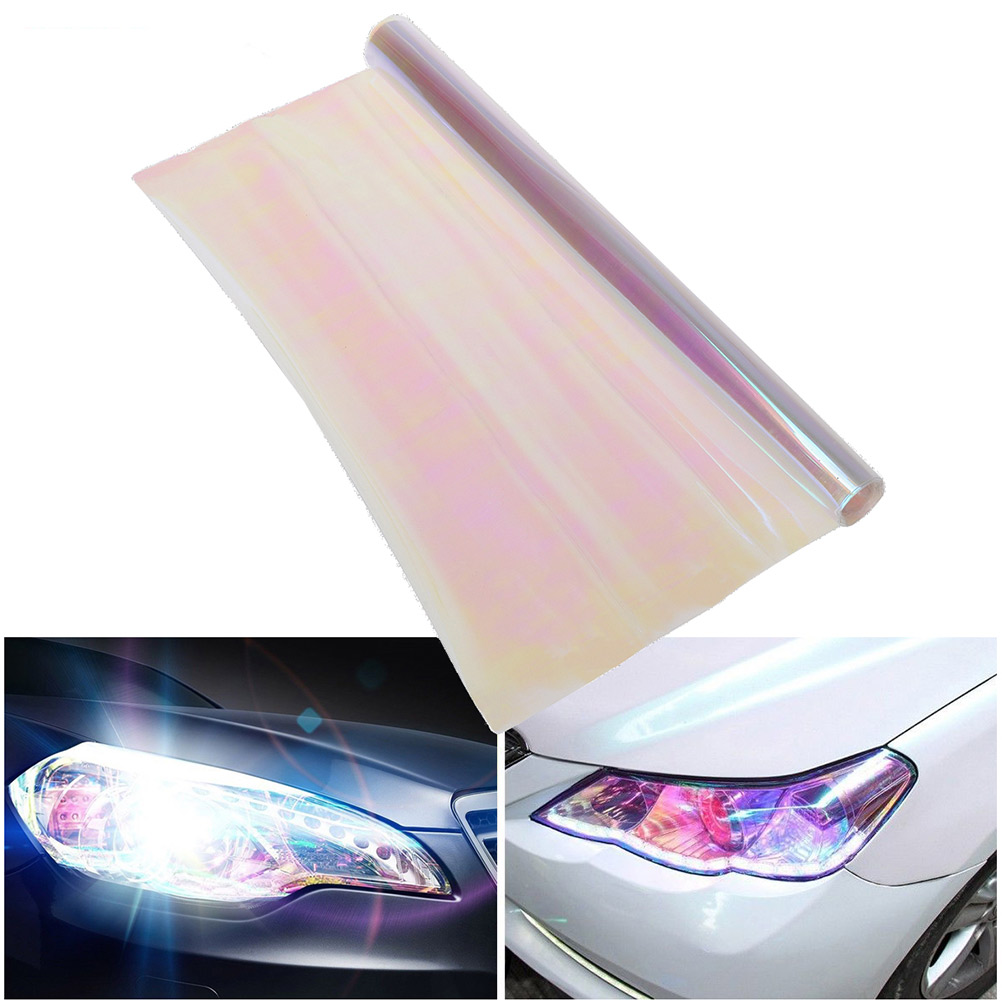Light Blue outlaw-customs Chameleon Car Headlight Tint Film 30 x 100cm Protection and Style