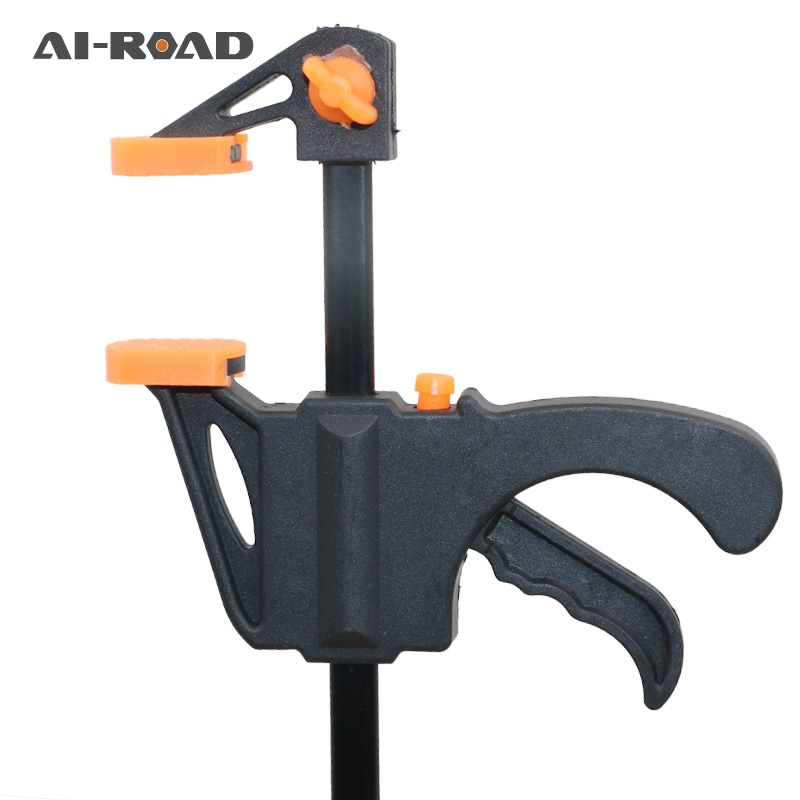 Woodworking Clip DIY Carpentry Quick Release Bar Clamp Practical 4 Inch Plastic Woodworking Bar F Clamp Clamping Device