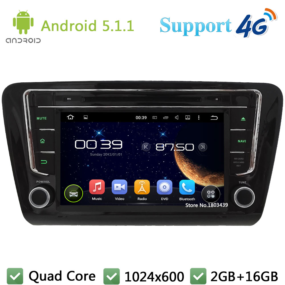 Quad Core 8 1024 600 Android 5 1 1 Car DVD Player Radio Stereo Screen PC