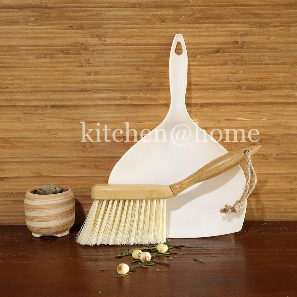 Brosse et Une Pelle Set Petite Taille Multi Fonction Confort Grip Balai avec Poignée En Bambou De Nettoyage Des Outils Pour Le Bureau Tatami QJ007