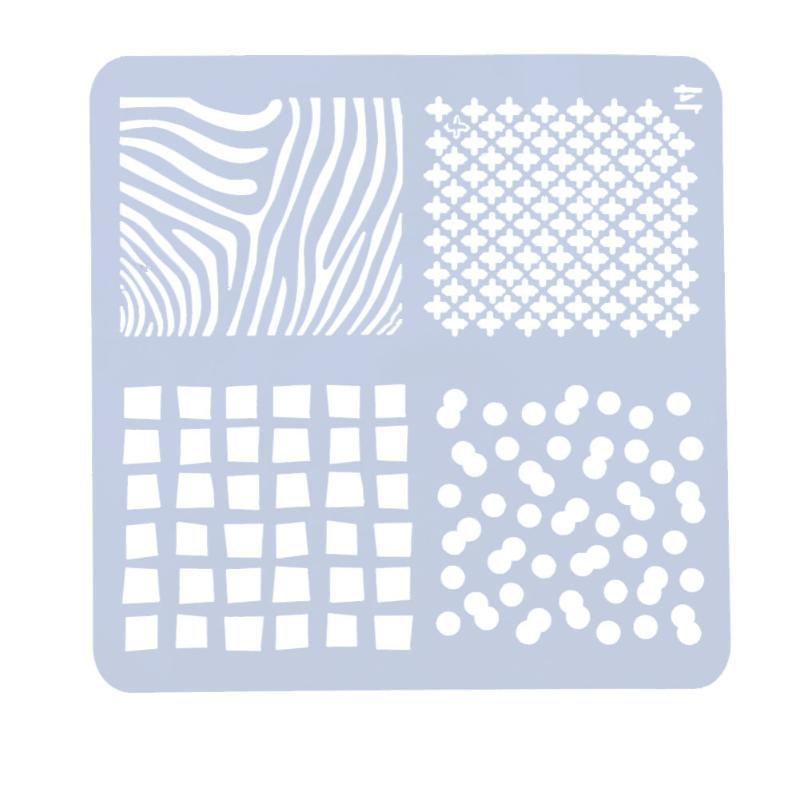 Handcraft Template Stencils For DIY Scrapbooking Plastic Hollow Ruler Photo Album Drawing Painting Tool School Office Supplies