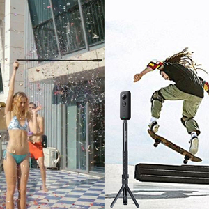 Image 2 - Universel Insta360 One X One R Plus EVO Selfie bâton balle temps poche trépied Invisible Selfie bâton Insta360 accessoires
