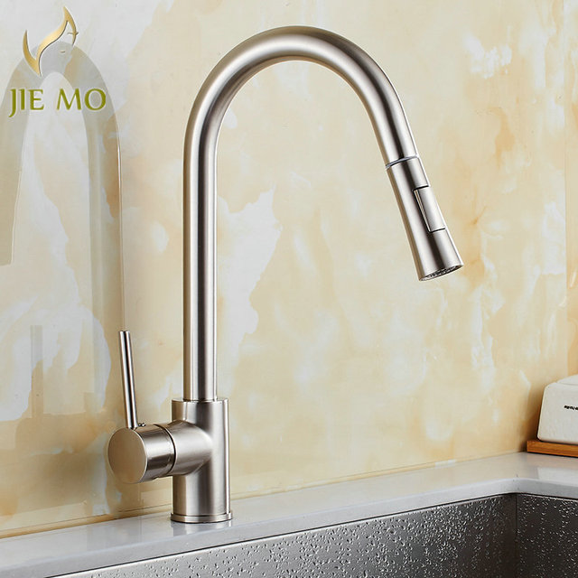 Kitchen Black Copper Sink Faucet Promotion Pull Out Brass Black Kitchen Bar Sink  Faucet Dual Spout