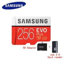 SAMSUNG EVO Plus Micro SD card 32G карты памяти 64 GB 128 GB 256 GB SDHC/SDXC U3 C10 UHS-I 4 K карта HD TF для смартфонов, планшетов, и т. д.