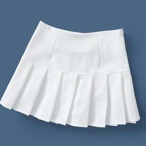 Image 5 - Iamgia saia raphie verão feminina, curta, sexy, cintura alta, mini saia, preto, branco, plissada, micro 2019