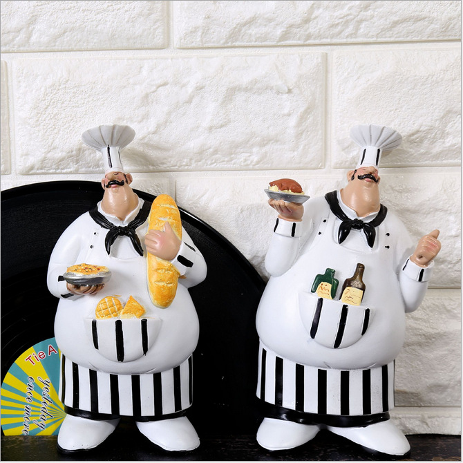 Kitchen Wall Decorations Gifts Exquisite Crafts Ornaments Chef A31 150584 Resin China Mainland