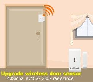 Image 2 - Qolelarm open/close 2 signals 10pcs/lot 433mhz Wireless magnetic door window detector alarm sensor with built in antenna