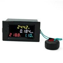 4 w 1 woltomierz amperomierz kolorowy ekran wielofunkcyjne miernik AC 80-300 V 100A napięcia prądu zasilania energii elektrycznej wyświetlacz 40% off