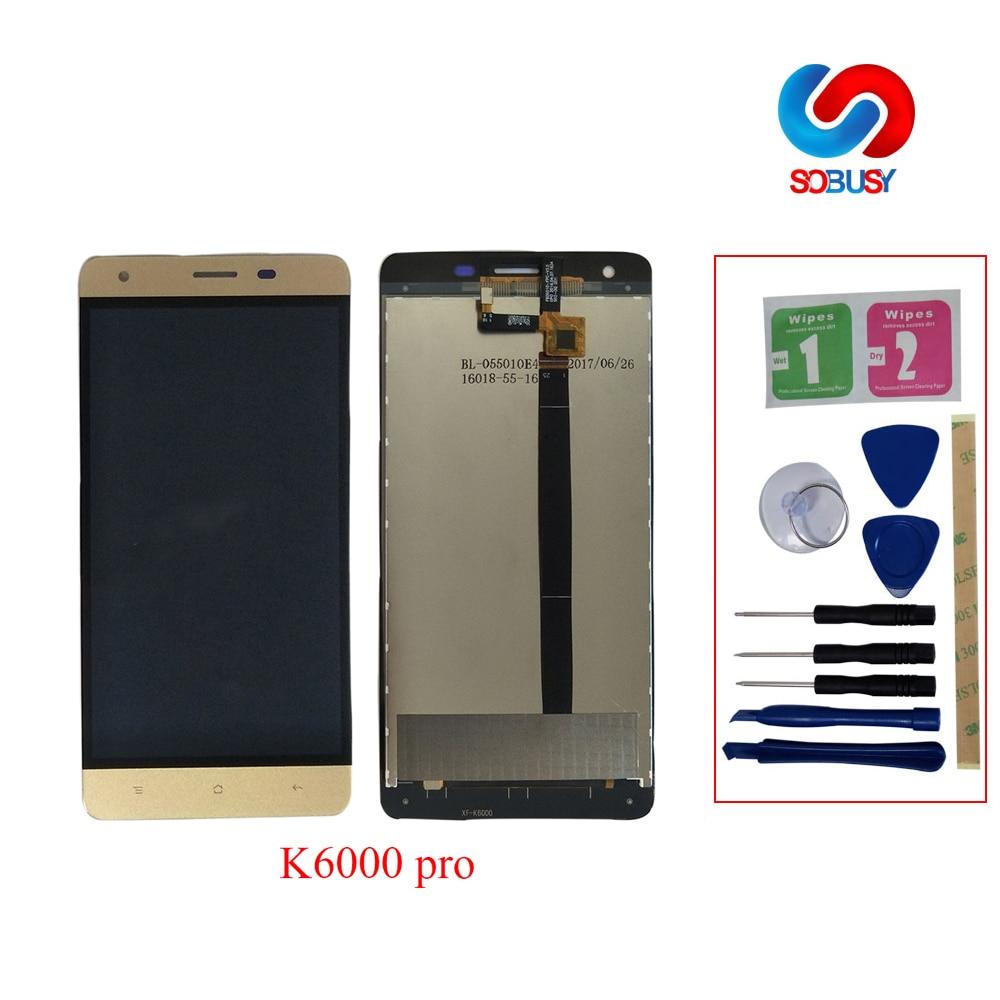 Ecran LCD d'origine Pour Oukitel K6000 Pro K6000pro Écran Tactile Digitizer LCD Assemblée + Outils 5.5 LCD Pantalla Tela