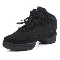 DS4 Black Breathable Canvas Fitness Jazz Dance Shoes Dance Sneakers Woman