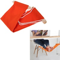 60 16cm Office Foot Rest Stand Desk Feet Hammock Easy To Disassemble Study Indoor Orange Free