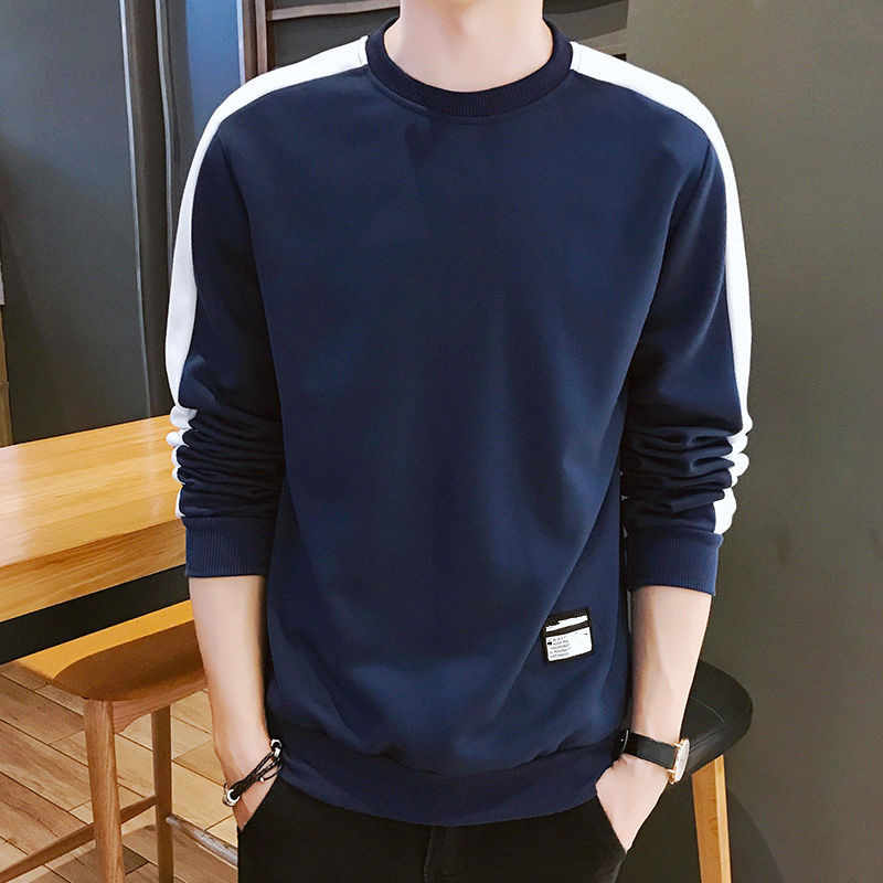 Pria Hoodies Lengan Panjang Sweatshirt Musim Dingin 2020 Warna Solid Hijau Army Sweatshirt Streetwear Slim Hoodies Pria M-4XL Ukuran Besar