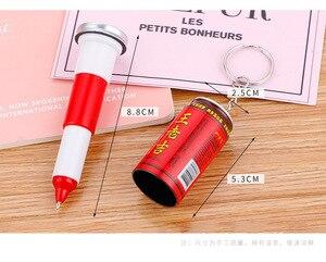 Image 5 - 36 pièces boîtes créatives de stylo à bille mignon étudiant porte clés télescopique canettes de boissons stylo à bille en gros