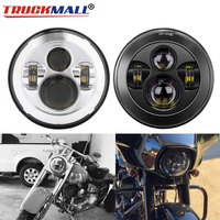 Motorcycle DOT EMARK 7inch LED Headlight with Hi/Lo Beam Headlamp for Motorcycle Electra Glide Ultra Limited Street Glide