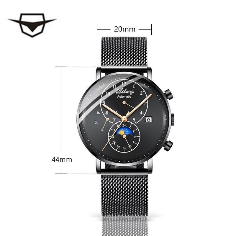 33e50683eca AILANG Minimalista Qualidade Relógio Mecânico Automático dos homens da Marca  À Prova D  Água Relógio Diesel Mergulhador de Aço Inoxidável Estilo Simples  Dos ...
