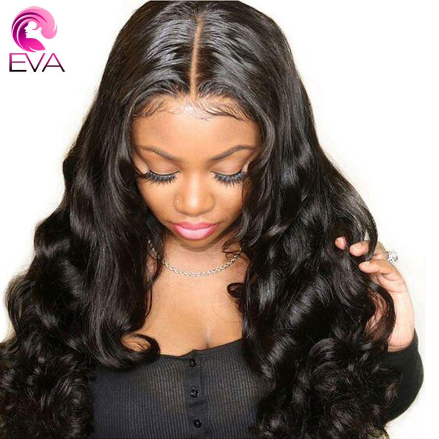 Eva Hair Glueless 360 Lace Frontal Wigs Loose Wave Pre Plucked With Baby Hair Brazilian Remy Human Hair Wigs For Black Women
