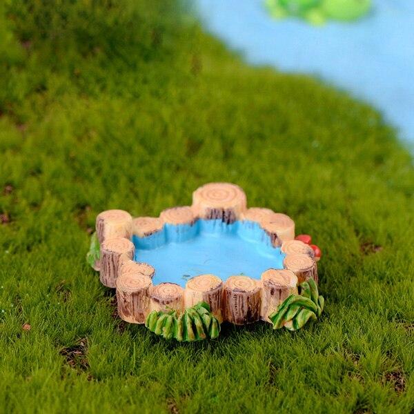 Mini Holzbrücke Mini Landschaft Harz Figuren Fairy Garten Zubehör YR