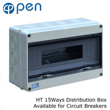 HT Series 15Way IP66 Waterproof and Moistureproof Distribution Box for Circuit Breakers Indoor on the Wall