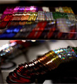 30 unids Línea Sticker/3d Herramienta de Rolls del Color Trazado de Líneas de Cinta Del Arte Del Clavo Etiqueta Engomada Del Clavo Extremidades Del Clavo de DIY Etiqueta decoración/Arte Accesorios