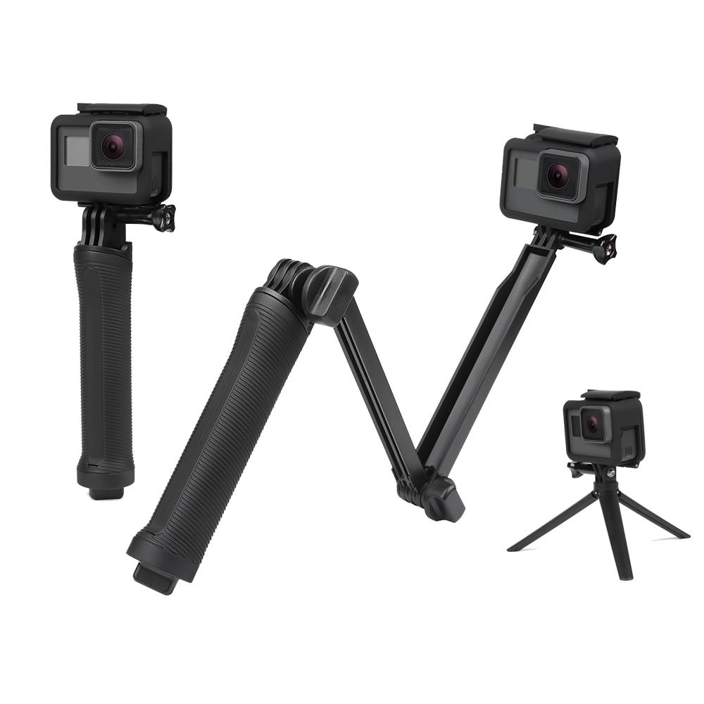 SCHIEßEN 3 Weg Grip Wasserdichte Einbeinstativ Selfie Stick Für Gopro Hero 5 6 4 Schwarz Sitzung SJ4000 Xiaomi Yi 4 karat Kamera Stativ Zubehör