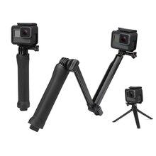 SHOOT 3 Way Grip Waterproof Monopod Selfie Stick For Gopro Hero 5 6 4 Black Session SJ4000 Xiaomi Yi 4K Camera Tripod Accessory