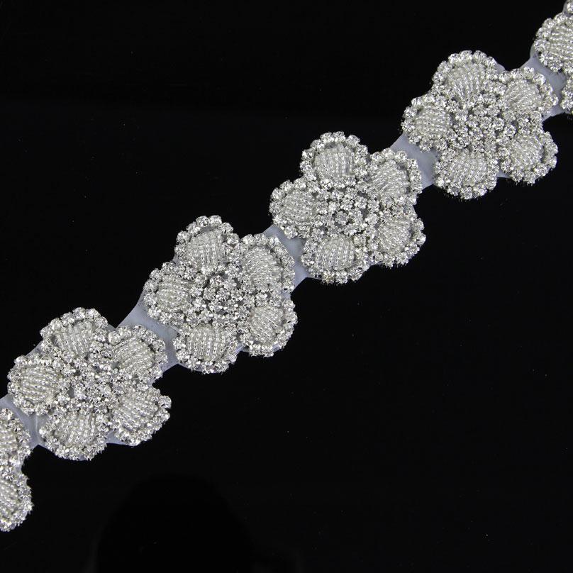 1Yard White Crystal Rhinestone Sew On Trim Horse Browband Craft Applique-in  Rhinestones from Home   Garden on Aliexpress.com  e9b00ae56b71